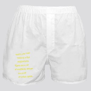 A lot of Broken Glass yellow Boxer Shorts