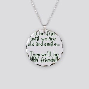 Well be friends  Necklace Circle Charm