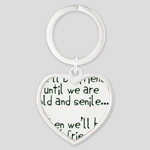 Well be friends  Heart Keychain
