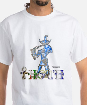 Thoth 3D White T-Shirt