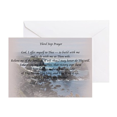 Third Step Prayerr Greeting Card