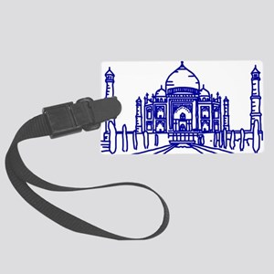 Taj Mahal Blue Large Luggage Tag