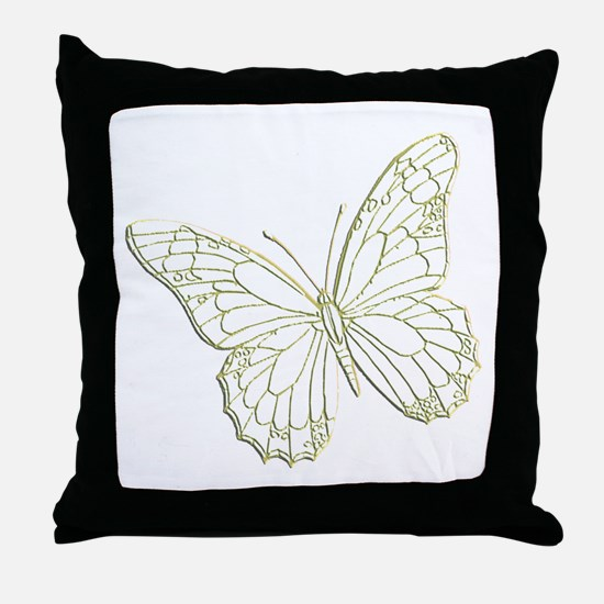 embossedbutterfly Throw Pillow