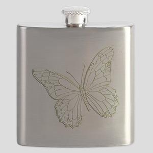 embossedbutterfly Flask