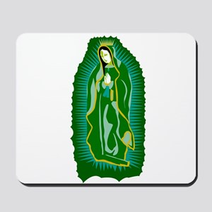 Our Lady of Guadalupe - Green Mousepad