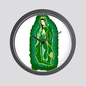 Our Lady of Guadalupe - Green Wall Clock