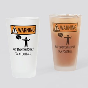 TALK FOOTBALL Drinking Glass
