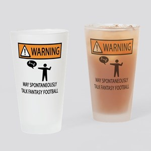 TALK FANTASY FOOTBALL Drinking Glass