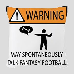 TALK FANTASY FOOTBALL Woven Throw Pillow