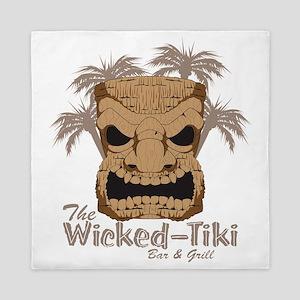 Wicked Tiki Bar + Grill (Light Palms) Queen Duvet