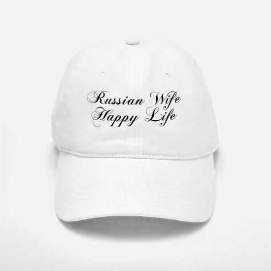 Russian Wife Happy Life Mug Baseball Baseball Cap