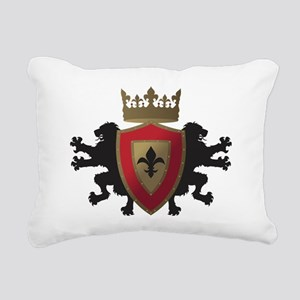 Medieval Lion Heraldry ( Rectangular Canvas Pillow