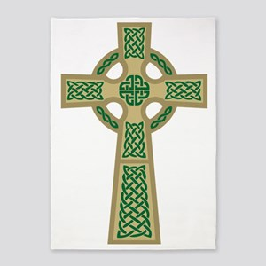 Celtic Cross (Gold) 5'x7'Area Rug