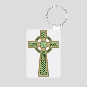Celtic Cross (Gold) Aluminum Photo Keychain