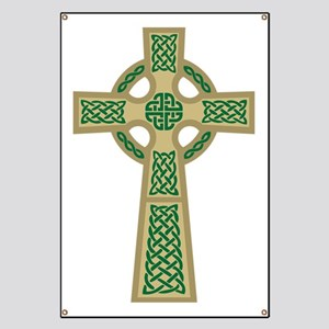 Celtic Cross (Gold) Banner