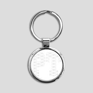 PT_White_new Round Keychain