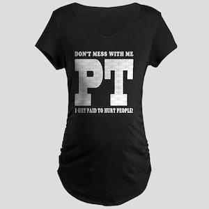 PT_White_new Maternity Dark T-Shirt