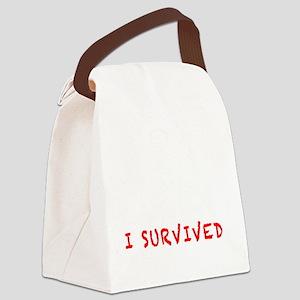 SurvivalKitwhite Canvas Lunch Bag