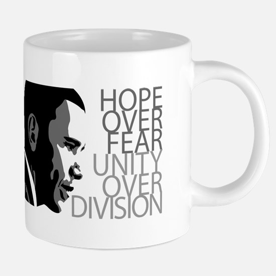 Obama - Hope Over Division - Grey Mugs