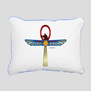 Set Ankh Rectangular Canvas Pillow
