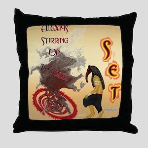 Set Trouble Throw Pillow