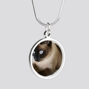 Shadow Silver Round Necklace
