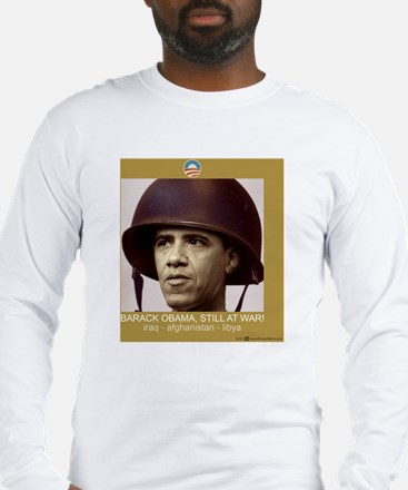 10x10_shirt_obama_war Long Sleeve T-Shirt