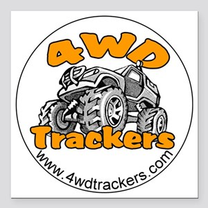 """4wdtrackers round logo.g Square Car Magnet 3"""" x 3"""""""