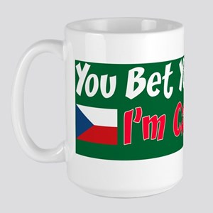 Bet Your Dupa Czech Sticker Large Mug