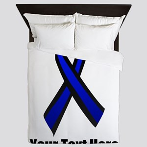 Police Support Ribbon Queen Duvet