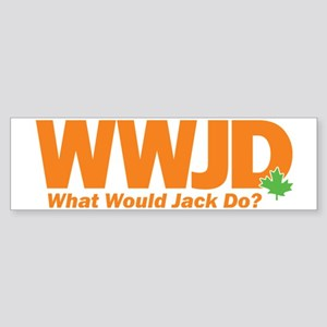 WWJD_crop Sticker (Bumper)