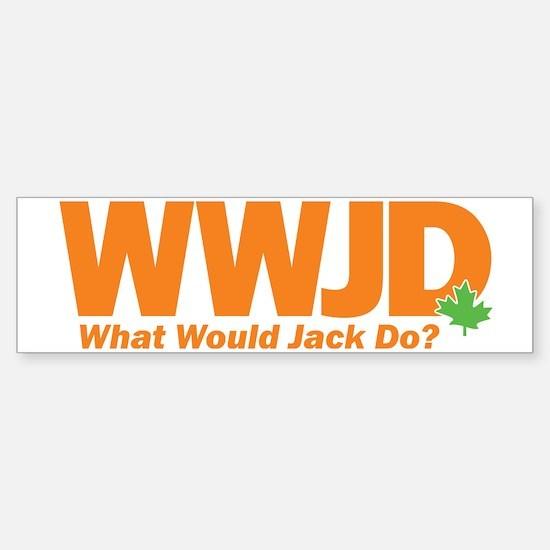 WWJD_crop Sticker (Bumper)