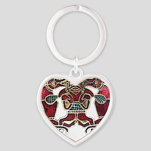 sutton hoo man shirt Heart Keychain