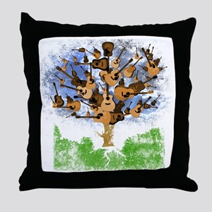 guitar tree color Throw Pillow