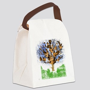 guitar tree color Canvas Lunch Bag