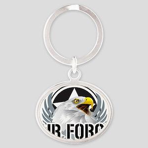 Air-Force-Eagle Oval Keychain