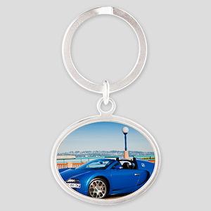 Bugatti5 Oval Keychain