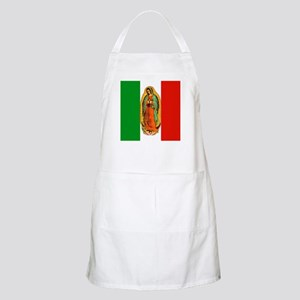 Virgen de Guadalupe - Mexican Flag BBQ Apron