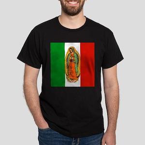Virgen de Guadalupe - Mexican Flag Dark T-Shirt