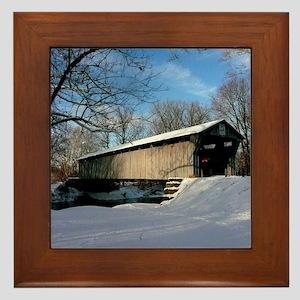 Covered Bridge Framed Tile