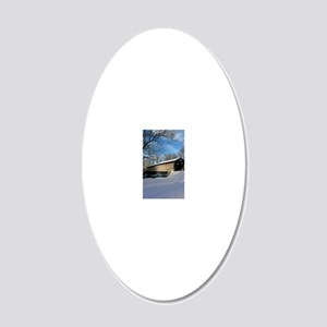 Covered Bridge 20x12 Oval Wall Decal
