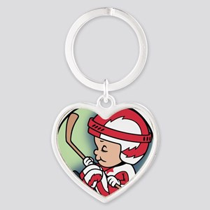 hockey-womb-T Heart Keychain
