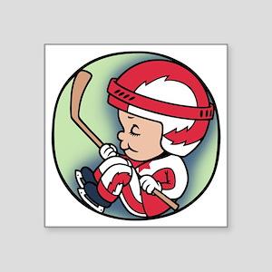 """hockey-womb-T Square Sticker 3"""" x 3"""""""