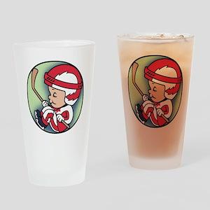 hockey-womb-T Drinking Glass