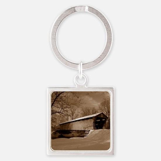 Covered Bridge Square Keychain