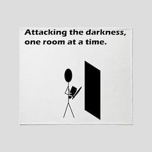 attackingdarkness Throw Blanket