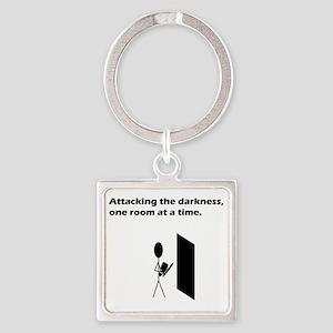 attackingdarkness Square Keychain