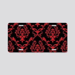 black red wallpaper Aluminum License Plate