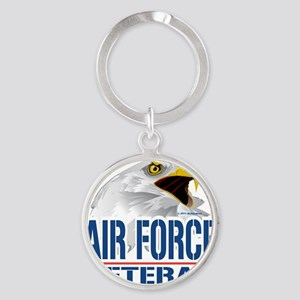 Air-Force-Eagle-Veteran Round Keychain