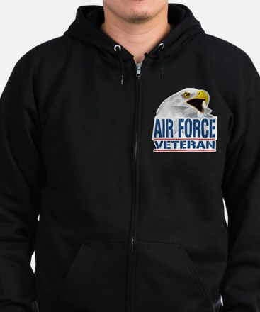 Air-Force-Eagle-Veteran Zip Hoodie (dark)